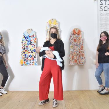 Young parents' sewing project showcased at V&A Dundee